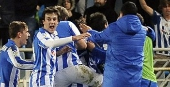 Sociedad enjoy their win against Barcelona