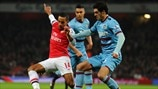 Theo Walcott (Arsenal FC) & James Tomkins (West Ham United FC)