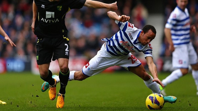 Andros Townsend (Queens Park Rangers FC) & Russell Martin (Norwich City FC)