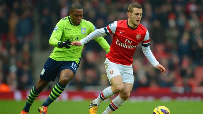 Charles N'Zogbia (Aston Villa FC) & Jack Wilshere (Arsenal FC)