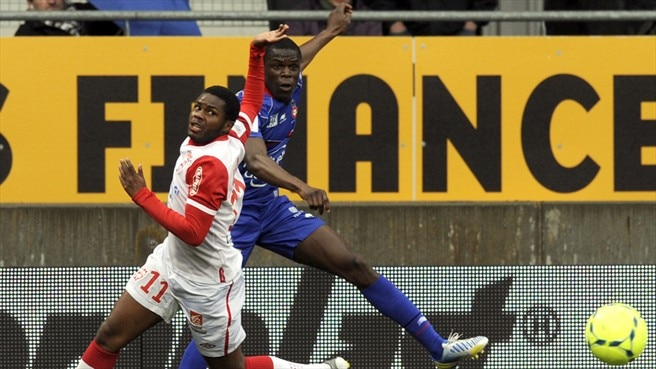 Djamel Bakar (AS Nancy-Lorraine) & Stephane Bahoken (OGC Nice)
