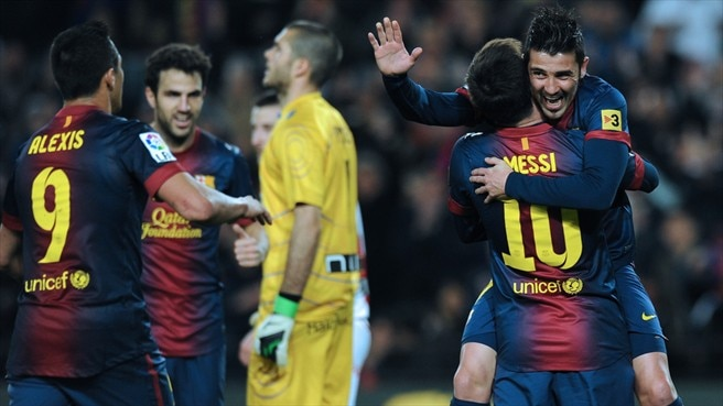 David Villa & Lionel Messi (FC Barcelona)