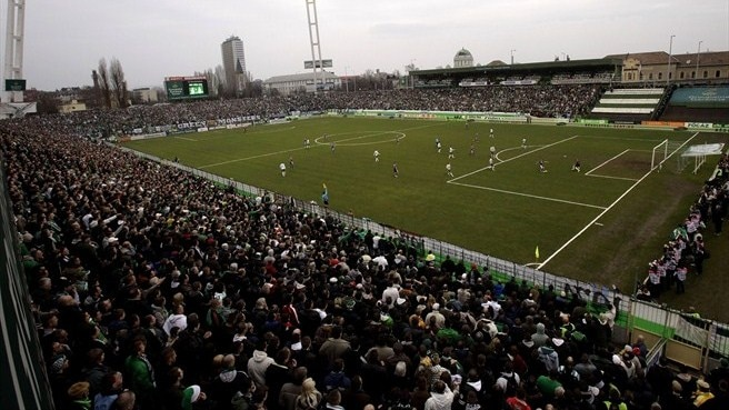 Ferencváros give stadium spectacular send-off