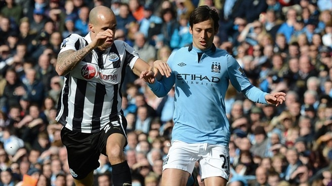 Gabriel Obertan (Newcastle United FC) & David Silva (Manchester City FC)