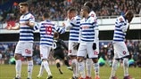 Queens Park Rangers FC react to Wigan Athletic FC's equaliser