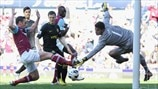 Matthew Jarvis (West Ham United FC) & Joel Robles (Wigan Athletic FC)