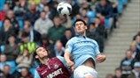 Gareth Barry (Manchester City FC) & Andy Carroll (West Ham United FC)