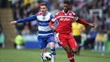 Armand Traore (Queens Park Rangers FC) & Danny Guthrie (Reading FC)