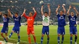 FC Schalke 04 players celebrate victory