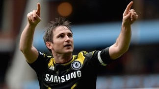 Lampard breaks Chelsea goal record in Villa win