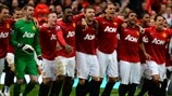 Manchester United FC players celebrate