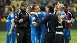 TSG 1899 Hoffenheim players celebrate