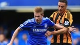 Kevin De Bruyne (Chelsea FC) & James Chester (Hull City AFC)