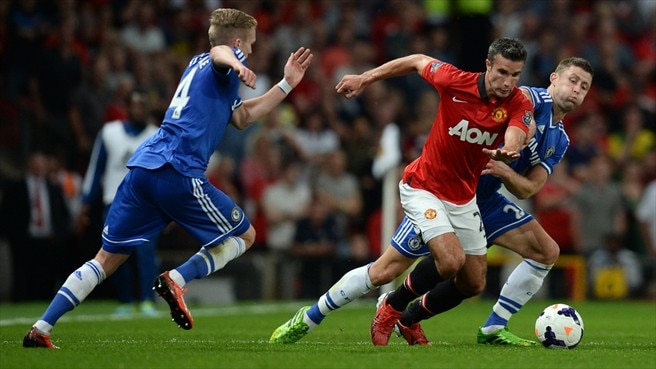 Robin van Persie (Manchester United FC), Gary Cahill, André Schürrle (Chelsea FC)