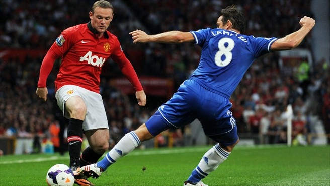 Wayne Rooney (Manchester United FC) &  Frank Lampard (Chelsea FC)