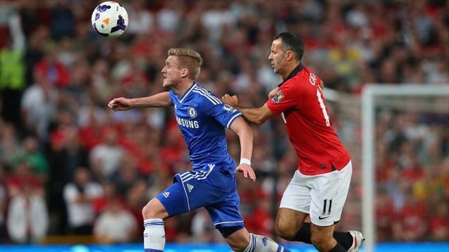 Kevin De Bruyne (Chelsea FC) & Ryan Giggs (Manchester United FC)