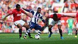 Anderson, Nani (Manchester United FC) & Stephane Sessegnon (West Bromwich Albion FC)