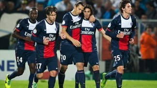 PSG beat Marseille as Montpellier hit five