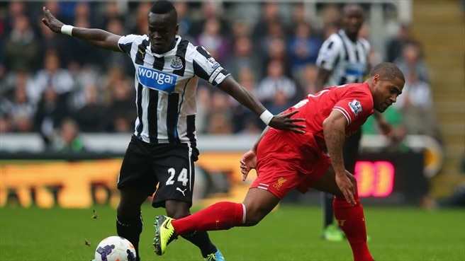 Glen Johnson (Liverpool FC) & Cheick Tiote (Newcastle United FC)
