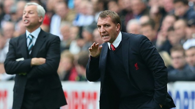 Alan Pardew (Newcastle United FC) & Brendan Rodgers (Liverpool FC)