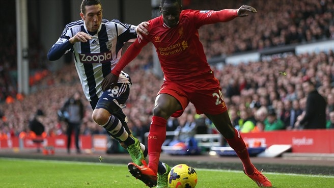 Mamadou Sakho (Liverpool FC) & Billy Jones (West Bromwich Albion FC)