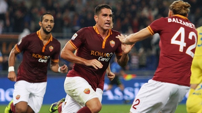 Borriello header makes it a perfect ten for Roma