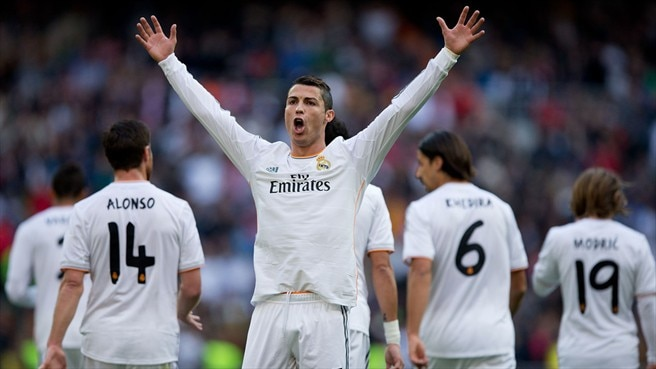 Ronaldo hat-trick helps Madrid hit five