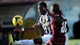 Kwadwo Asamoah (Juventus) & Innocent Emeghara (AS Livorno Calcio)