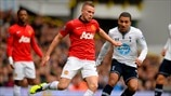 Tom Cleverley (Manchester United FC) & Aaron Lennon (Tottenham Hotspur FC)