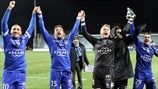 SC Bastia players celebrate