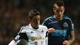 Pablo Hernández (Swansea City AFC) & Mathieu Debuchy (Newcastle United FC)