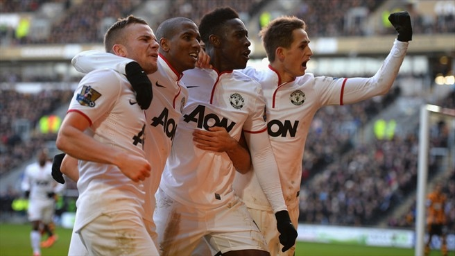 Tom Cleverley, Ashley Young, Danny Welbeck & Adnan Januzaj (Manchester United FC)