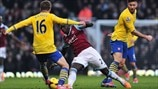 Aaron Ramsey (Arsenal FC) & Mohamed Diame (West Ham United FC)