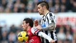 Santi Cazorla (Arsenal FC) & Mathieu Debuchy (Newcastle United FC)