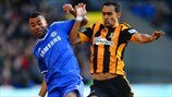 Ashley Cole (Chelsea FC) & Ahmed Al-Muhammadi (Hull City AFC)