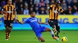 Ashley Cole (Chelsea FC) & Yannick Sagbo Latte (Hull City AFC)