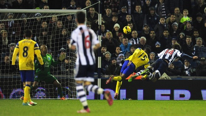 West Brom's Lugano salvages point against Everton