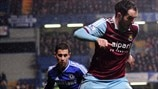 Eden Hazard (Chelsea FC) & Joey O'Brien (West Ham United FC)