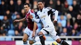 Stewart Downing (West Ham United FC) & Jonathan De Guzmán (Swansea City AFC)