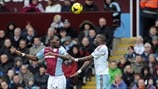 Christian Benteke (Aston Villa FC) & Guy Demel (West Ham United FC)