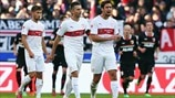 VfB Stuttgart players react