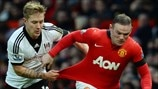 Lewis Holtby (Fulham FC) & Wayne Rooney (Manchester United FC)