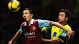 Stewart Downing (West Ham United FC) & Russell Martin (Norwich City FC)