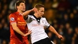 Steven Gerrard (Liverpool FC) & Lewis Holtby (Fulham FC)