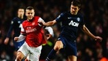 Jack Wilshere (Arsenal FC) & Michael Carrick (Manchester United FC)