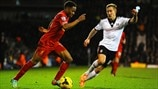 Raheem Sterling (Liverpool FC) & Lewis Holtby (Fulham FC)