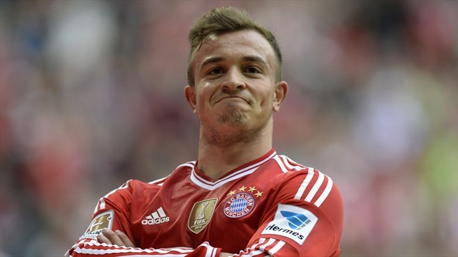 Shaqiri ruled out of first leg against Arsenal