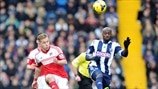 Lewis Holtby (Fulham FC) & Youssuf Mulumbu (West Bromwich Albion FC)