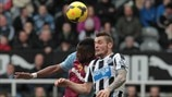 Yacouba Sylla (Aston Villa FC) & Mathieu Debuchy (Newcastle United FC)