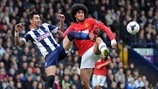 Liam Ridgewell (West Bromwich Albion FC) & Marouane Fellaini (Manchester United FC)